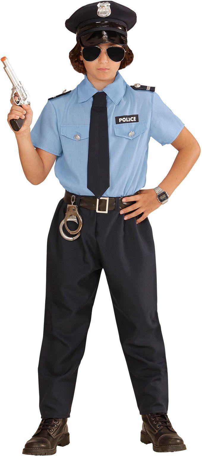 Stoer politie agent kostuum kind