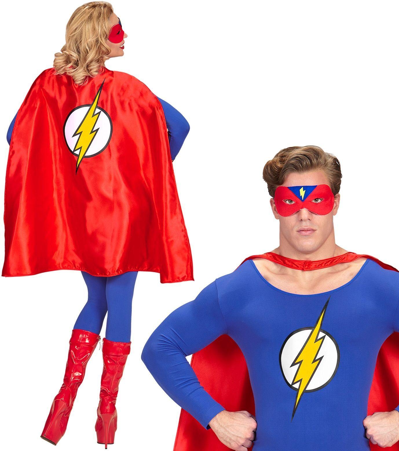 Superhelden cape met oogmasker One-size-volwassenen