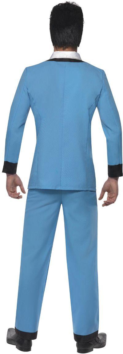 Teddy boy kostuum blauw
