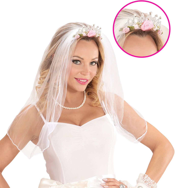 Tiara met bruidssluier