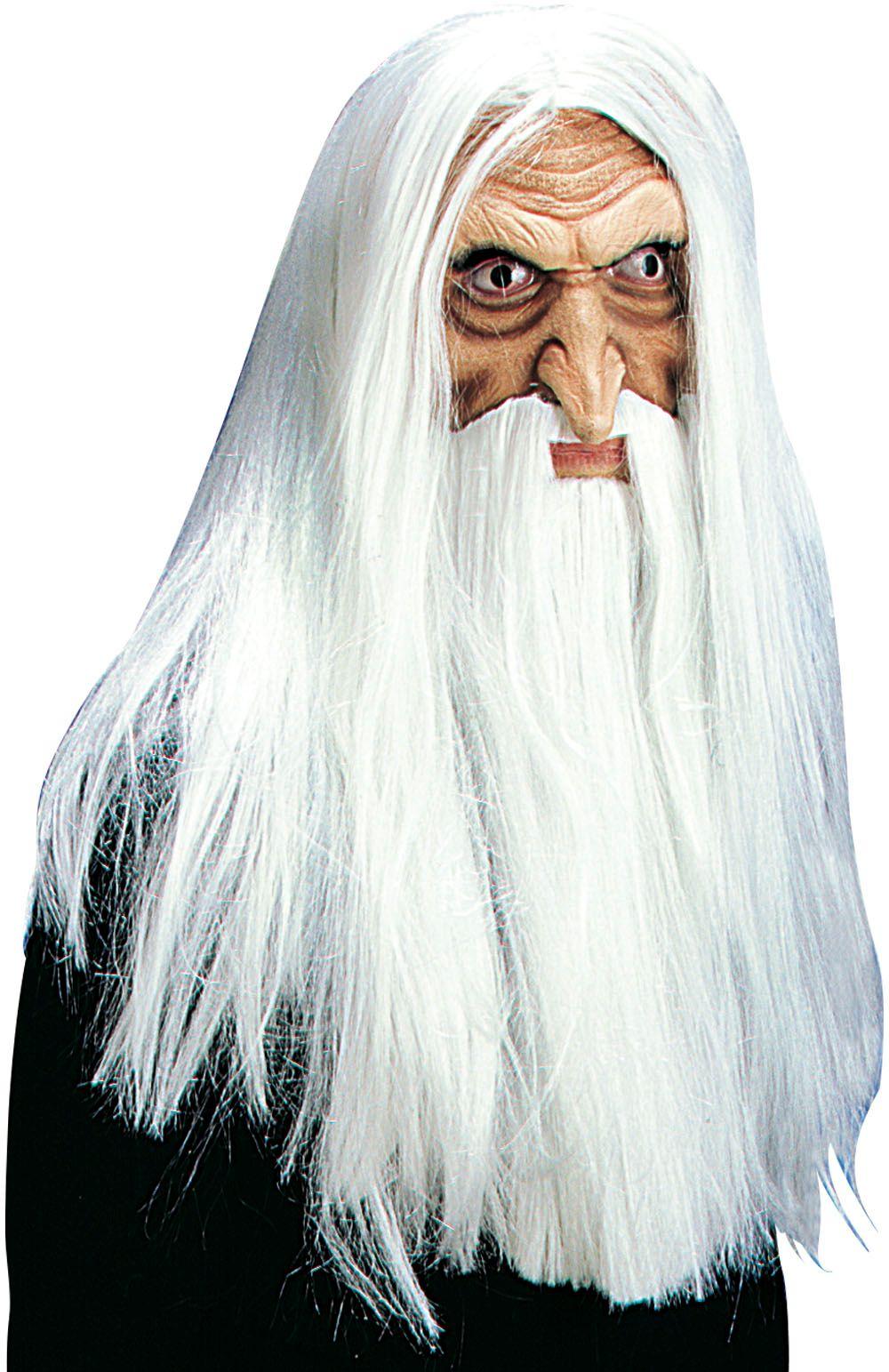 Tovenaars masker met baard en snor