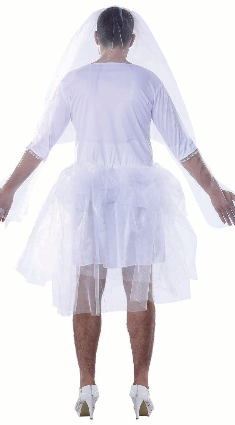 Travestiet bruid jurk wit