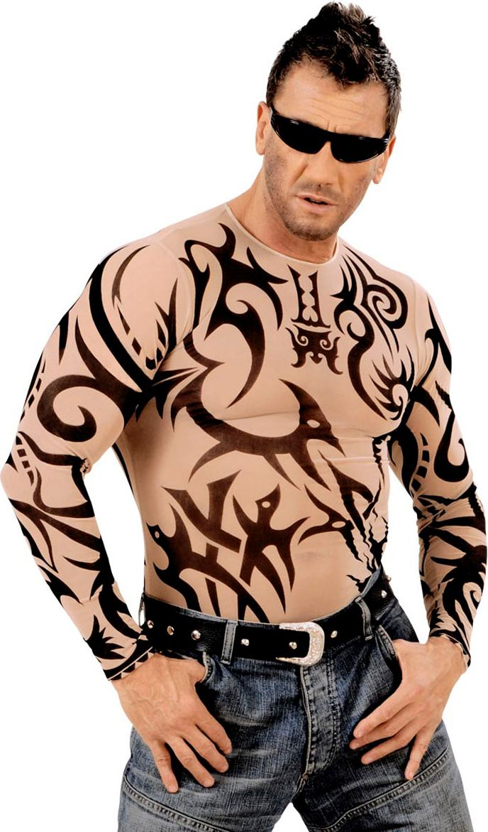Tribal tattoo shirt man