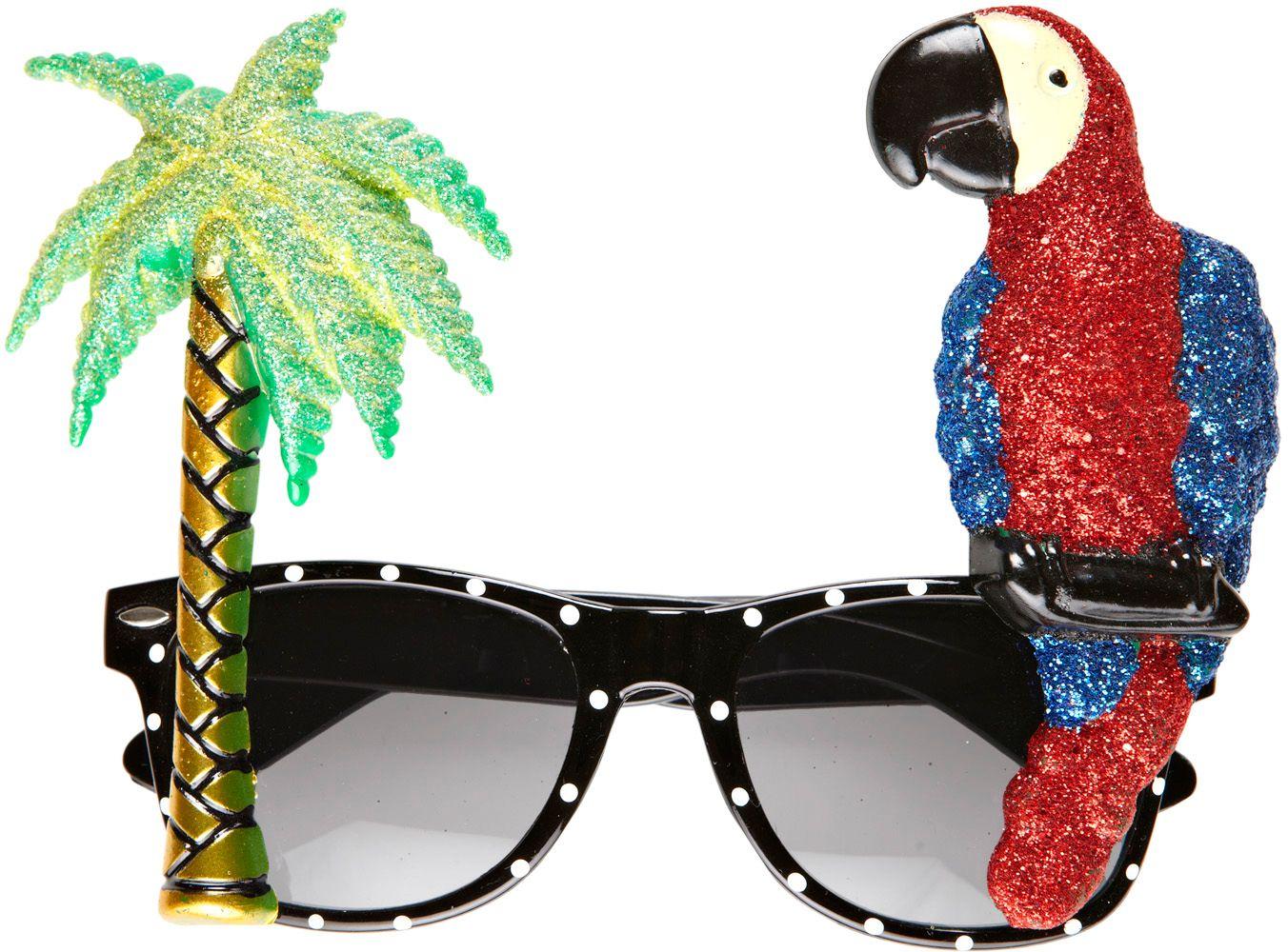 Tropische papegaai bril