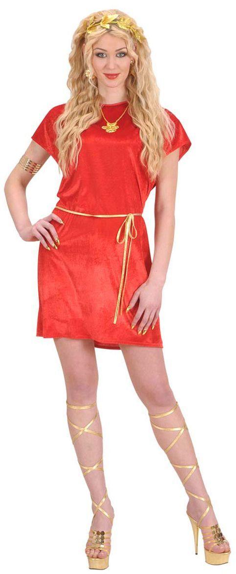 Tuniek Rood Met Gouden Kostuum