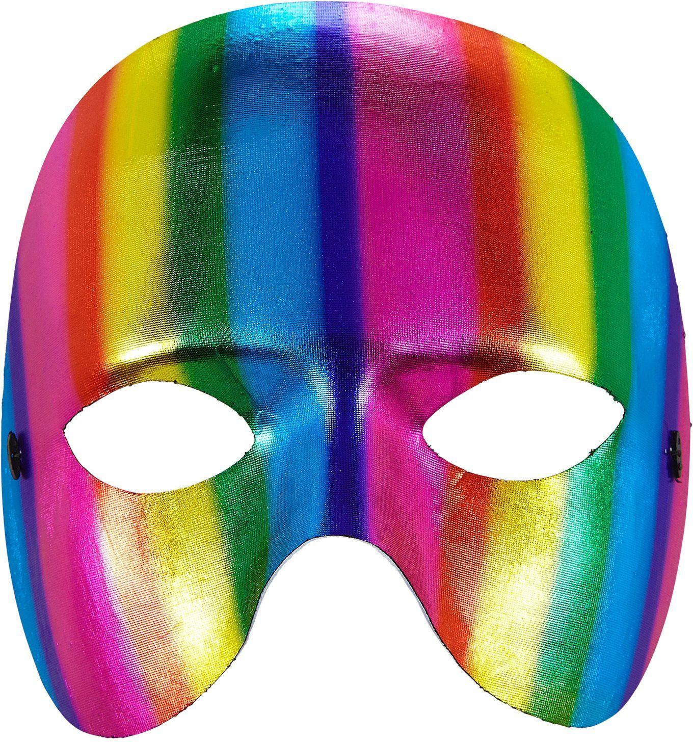 Uniseks regenboog masker