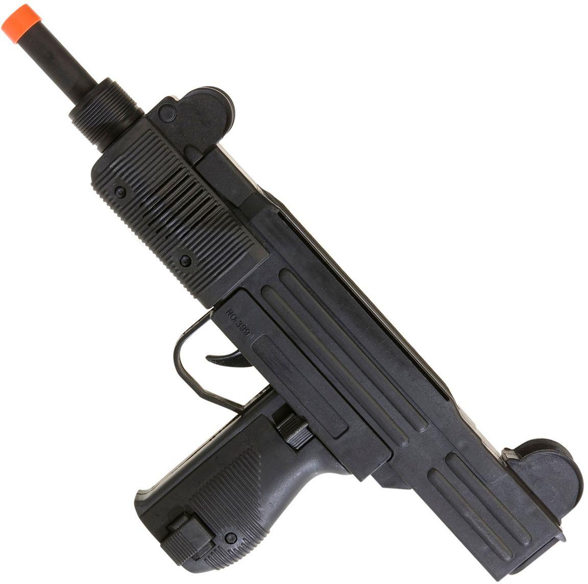 Uzi machinegeweer met geluid