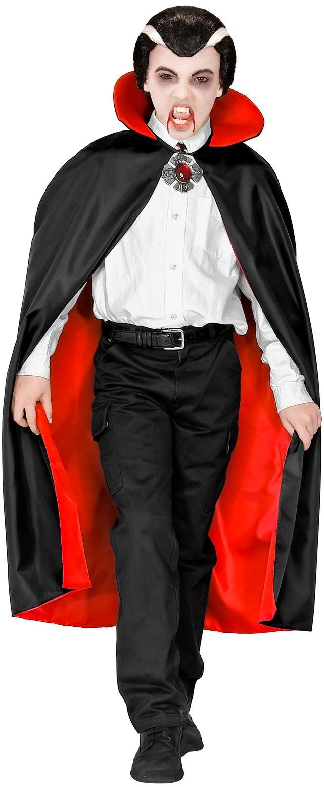 Vampier cape met kraag kind