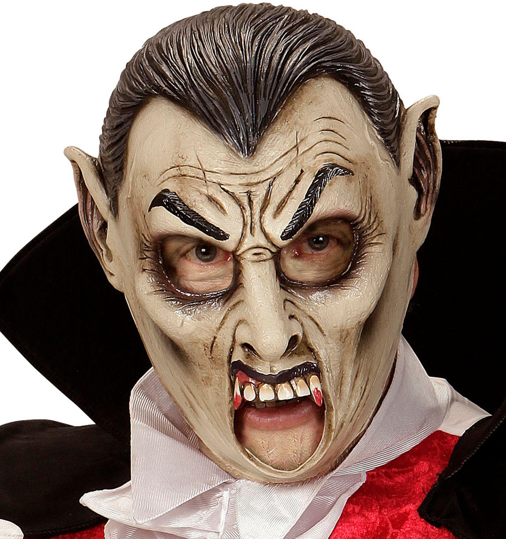 Vampier masker met open mond