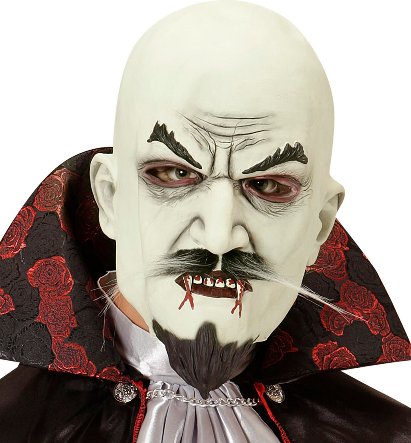 Vampier masker met sik en snor