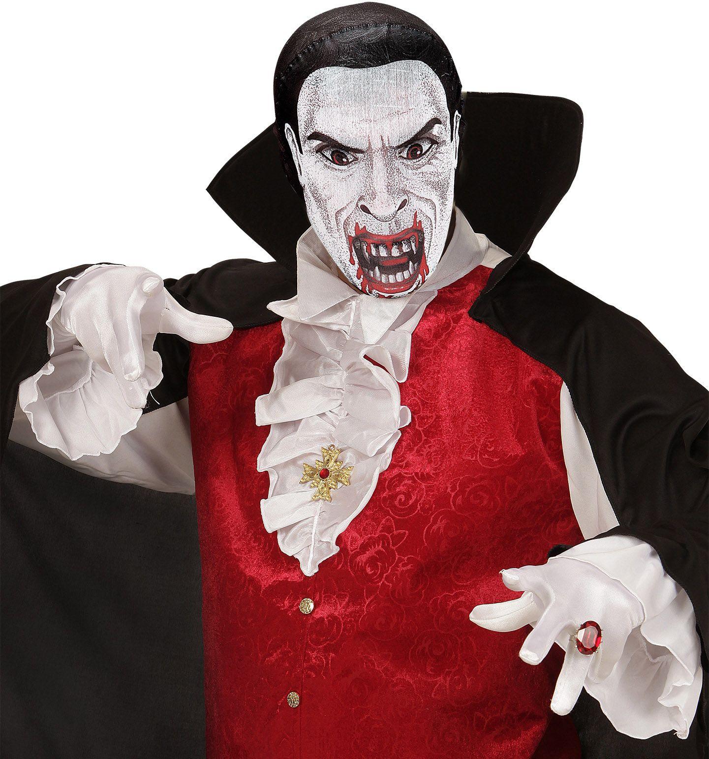 Vampier stoffen hoofdmasker