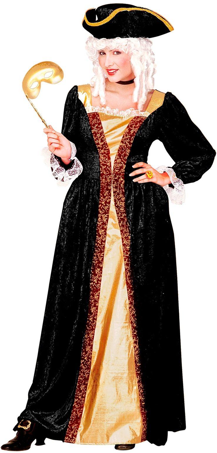 Venetiaanse edelvrouw kostuum