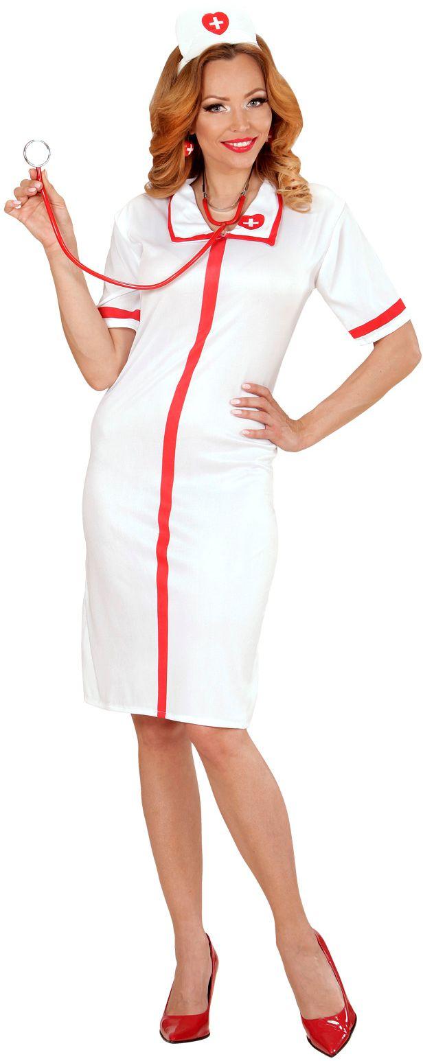 Verpleegster jurk met hoofdstuk