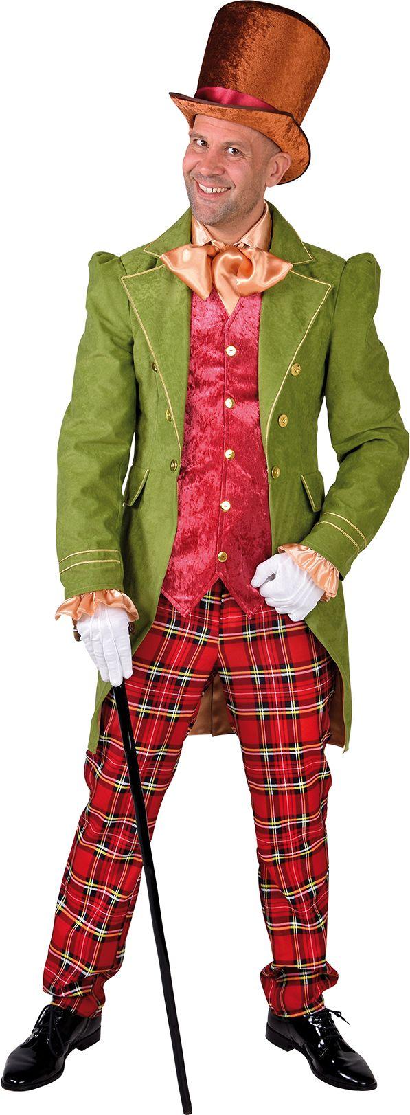 Victoriaans heren kostuum groen
