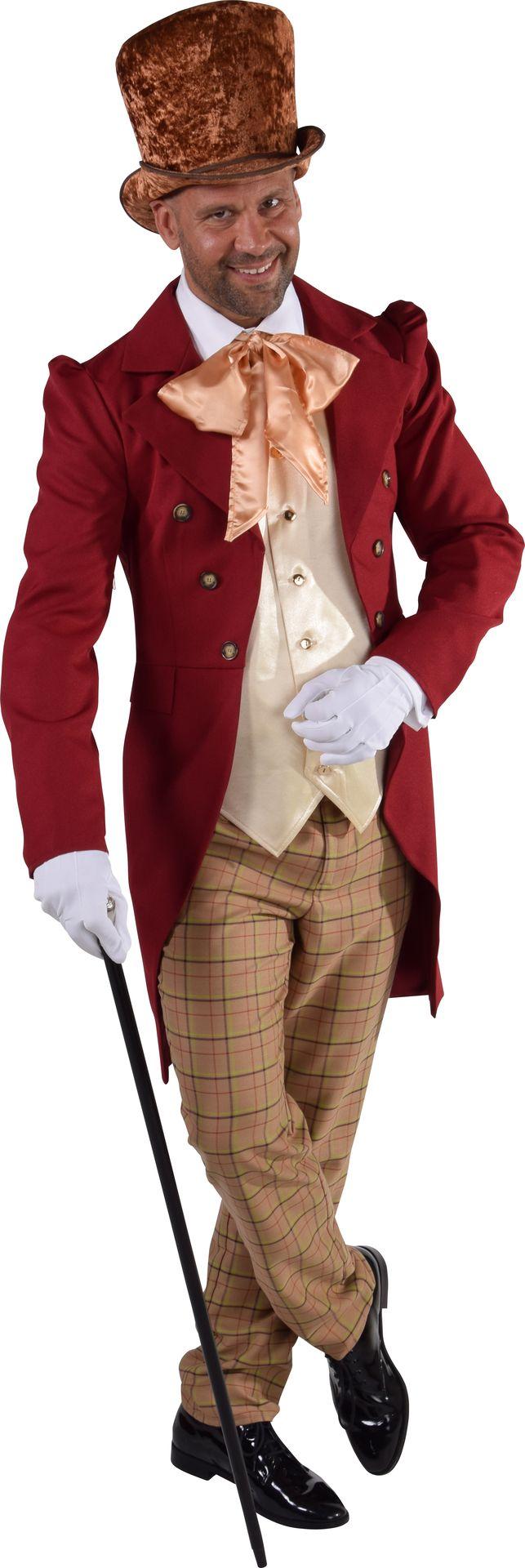 Victoriaans heren kostuum rood