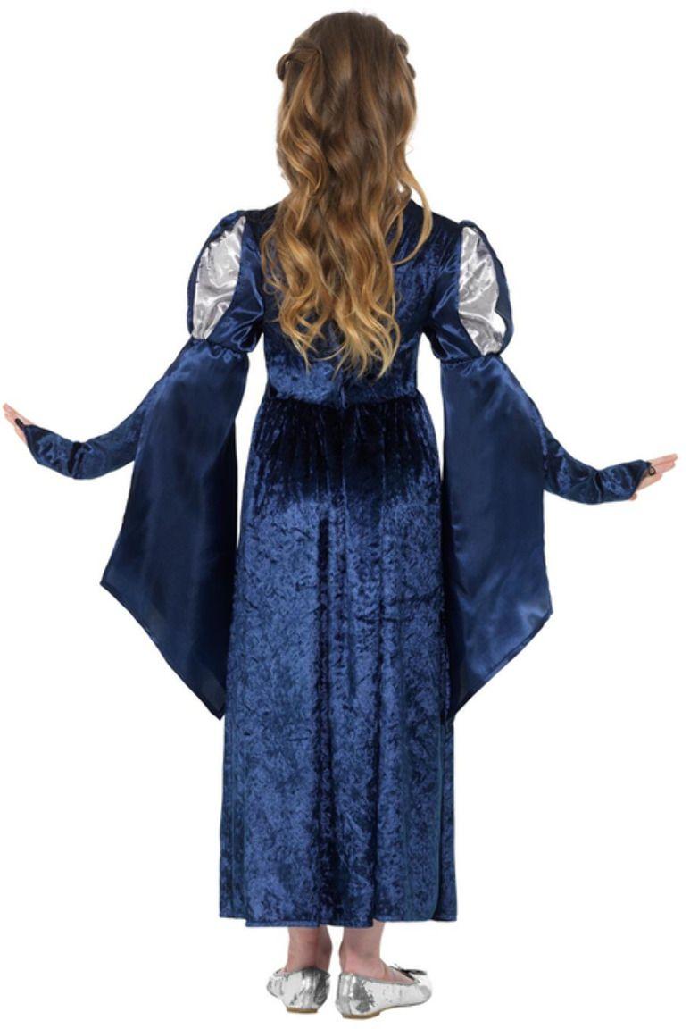 Victoriaans meisjes kostuum blauw