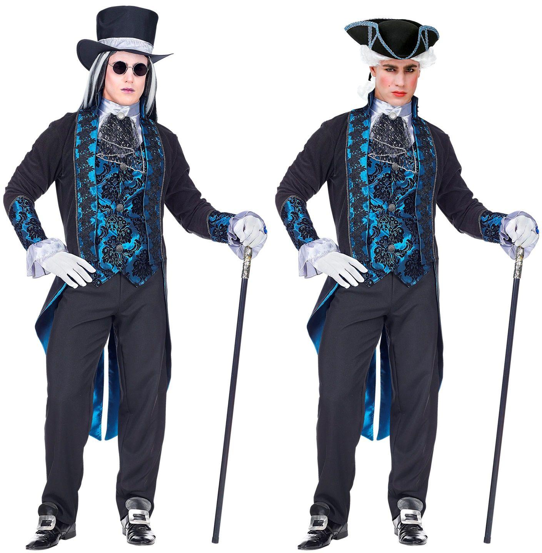 Victoriaanse vampier blauw mannen