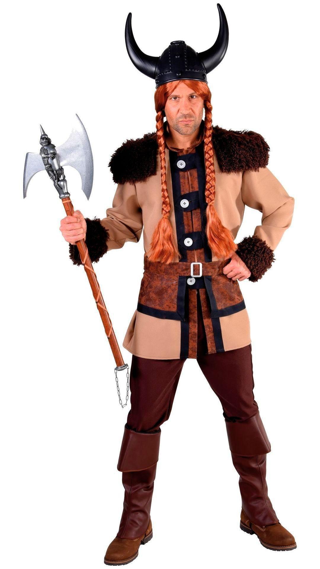 Viking kostuum heren bruin
