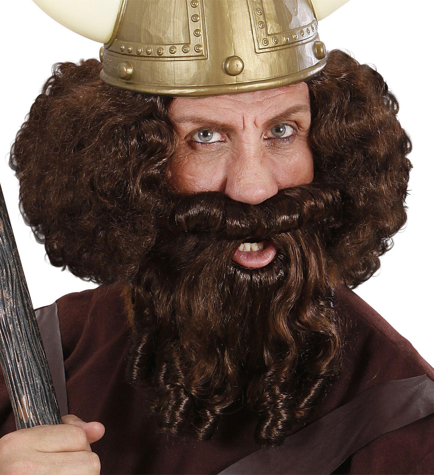 Viking pruik met baard