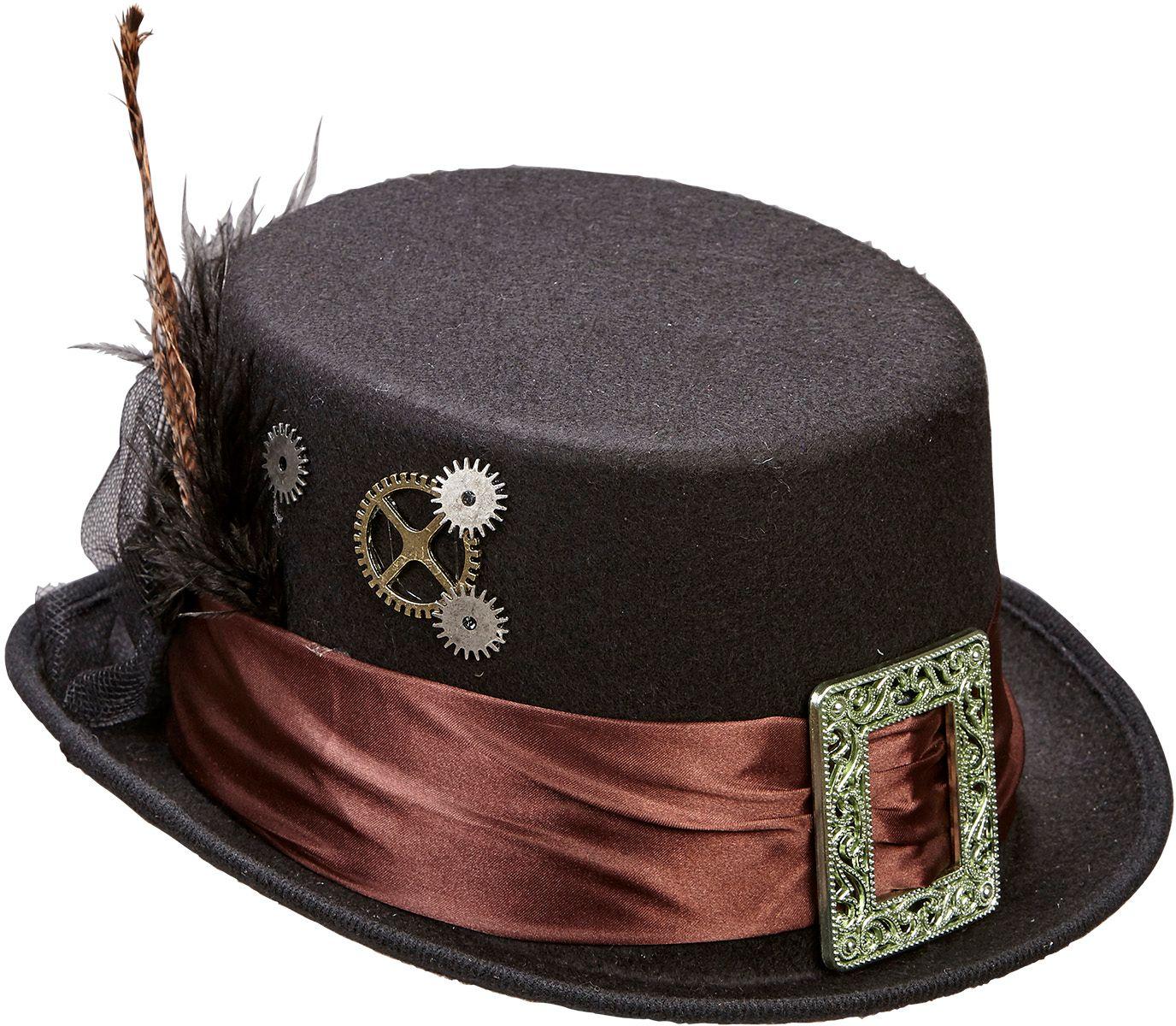 Vilten steampunk hoed