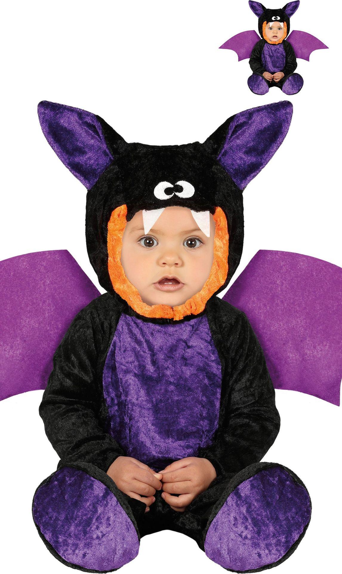 Vleermuis kostuum baby paars