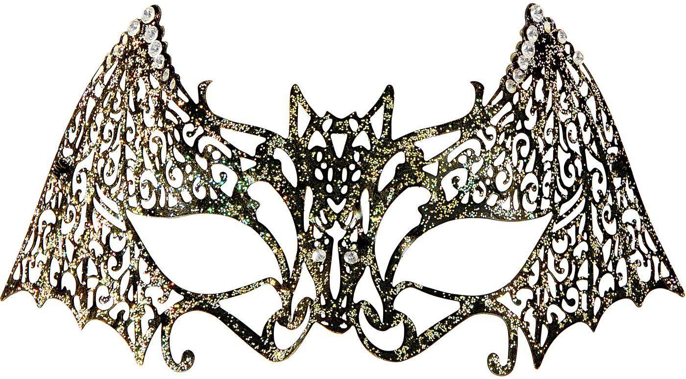 Vleermuis oogmasker met glitters