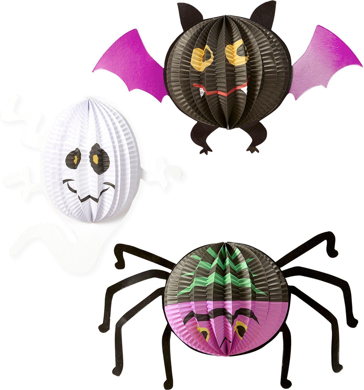 Vleermuis, spook en spin decoratie