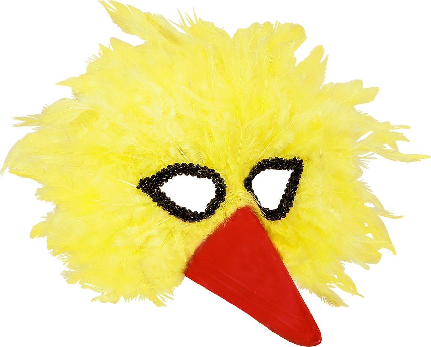 Vogel oogmasker met veren
