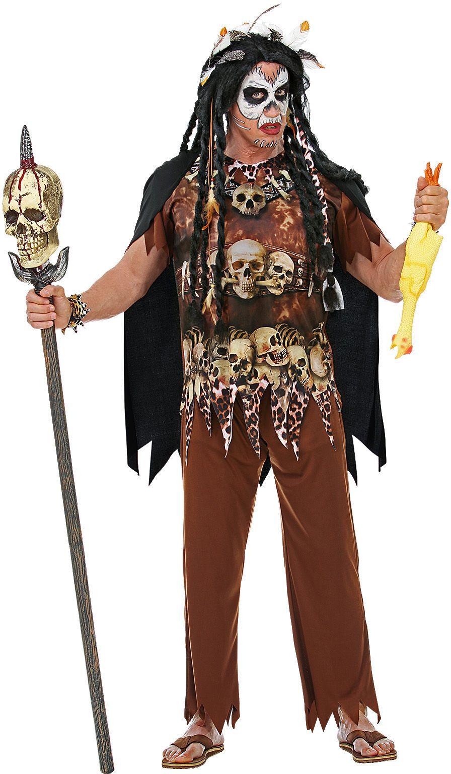 Voodoo priester pak man