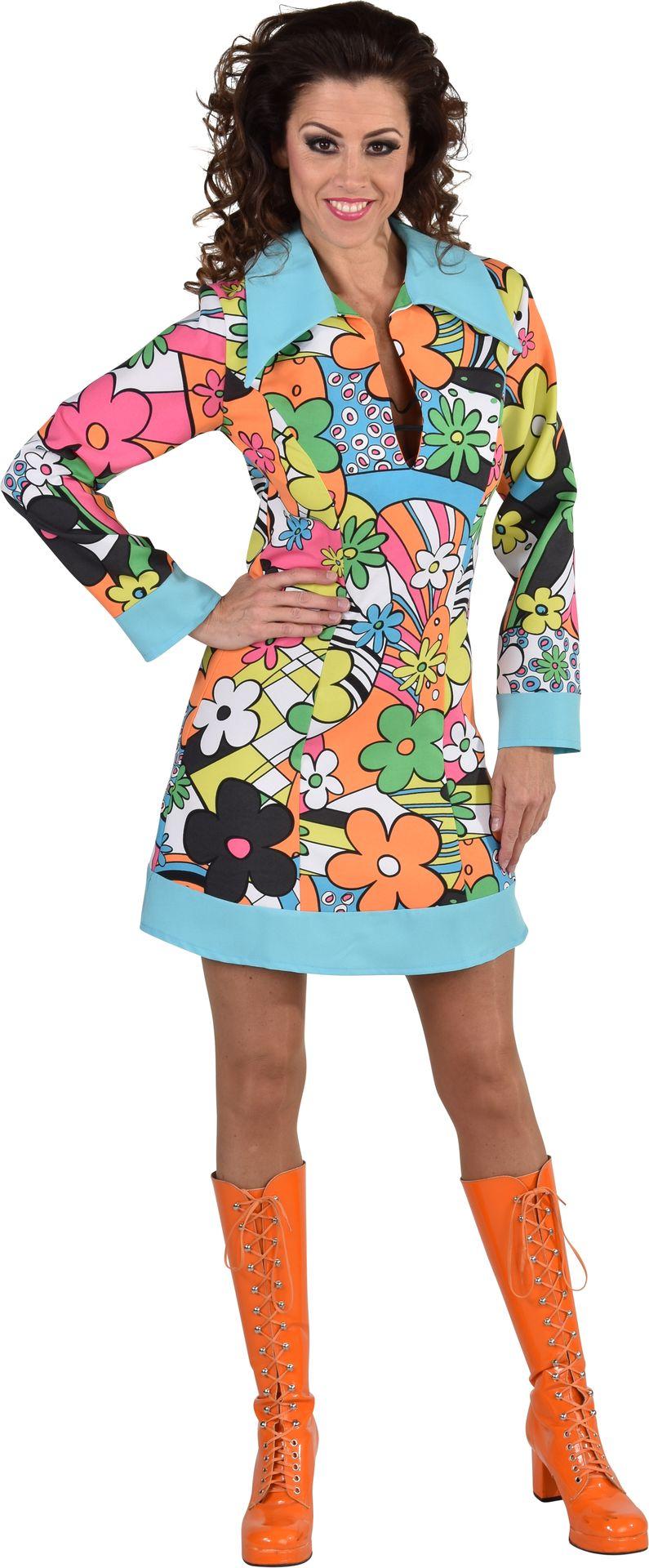 Vrolijke hippie jurk dames
