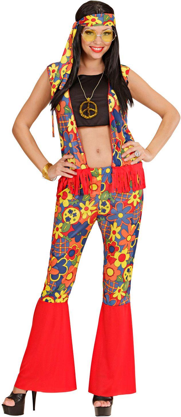 Vrouw Hippie Kostuum