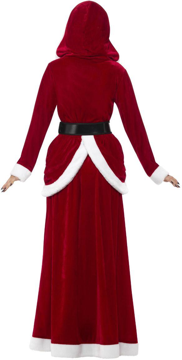 Vrouw van de kerstman pak