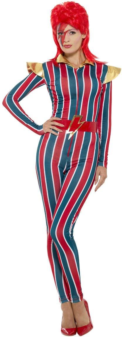 Vrouwelijke david bowie jumpsuit