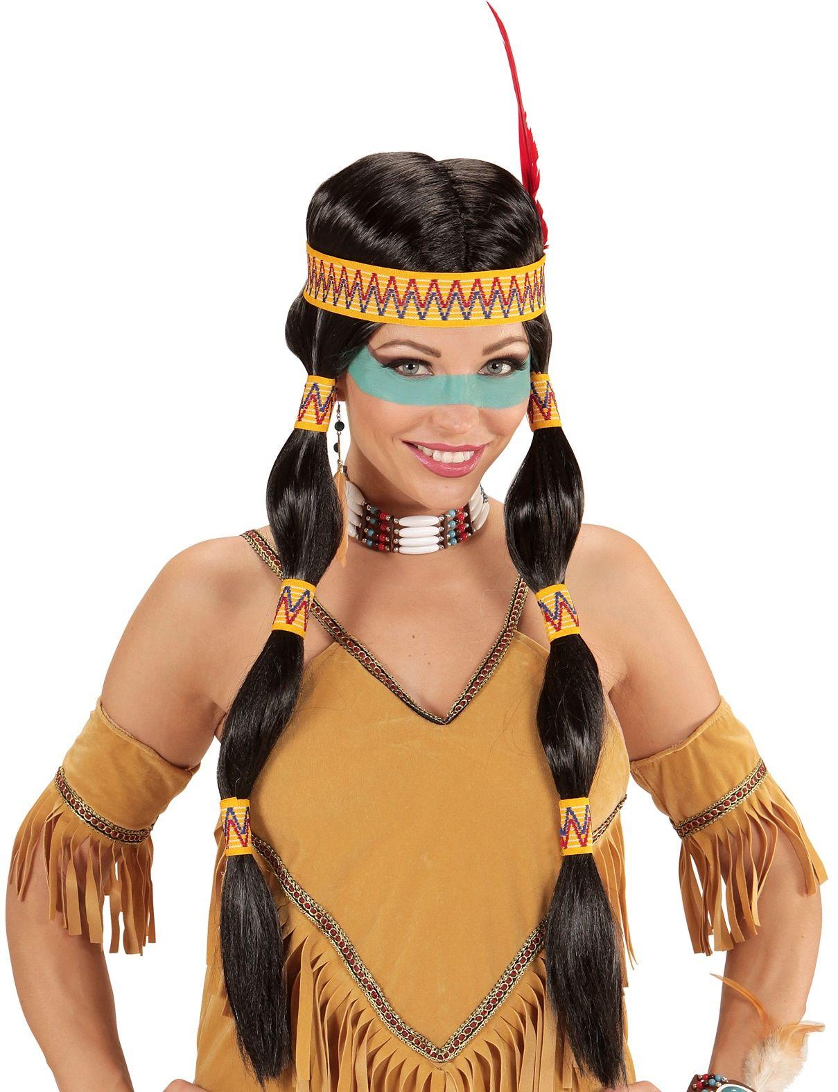 Vrouwelijke indianen pruik