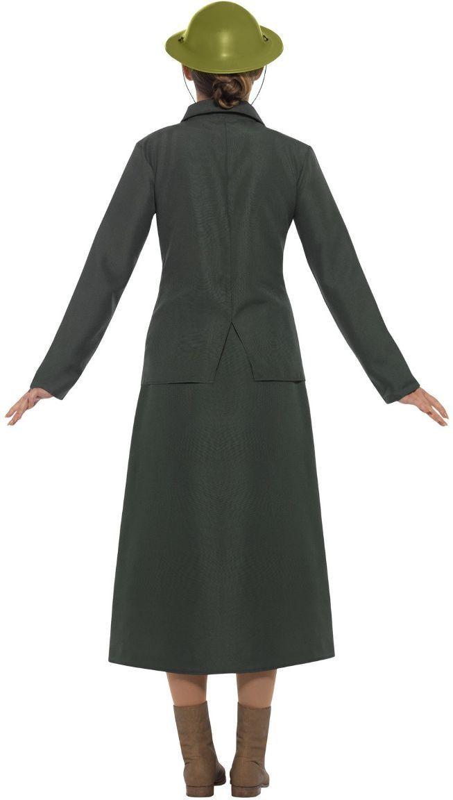Vrouwelijke leger bewaker kostuum