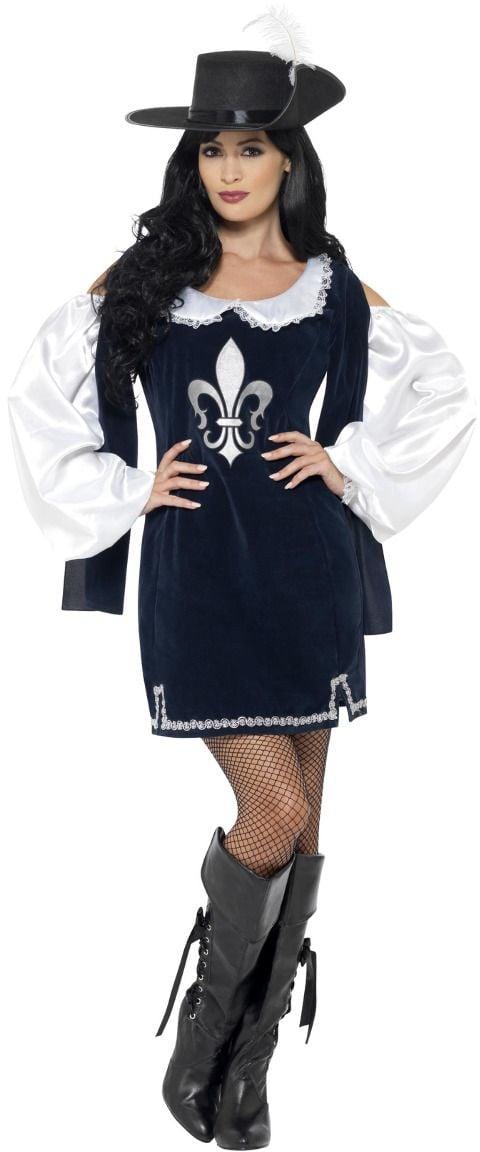 Vrouwelijke musketiers kostuum