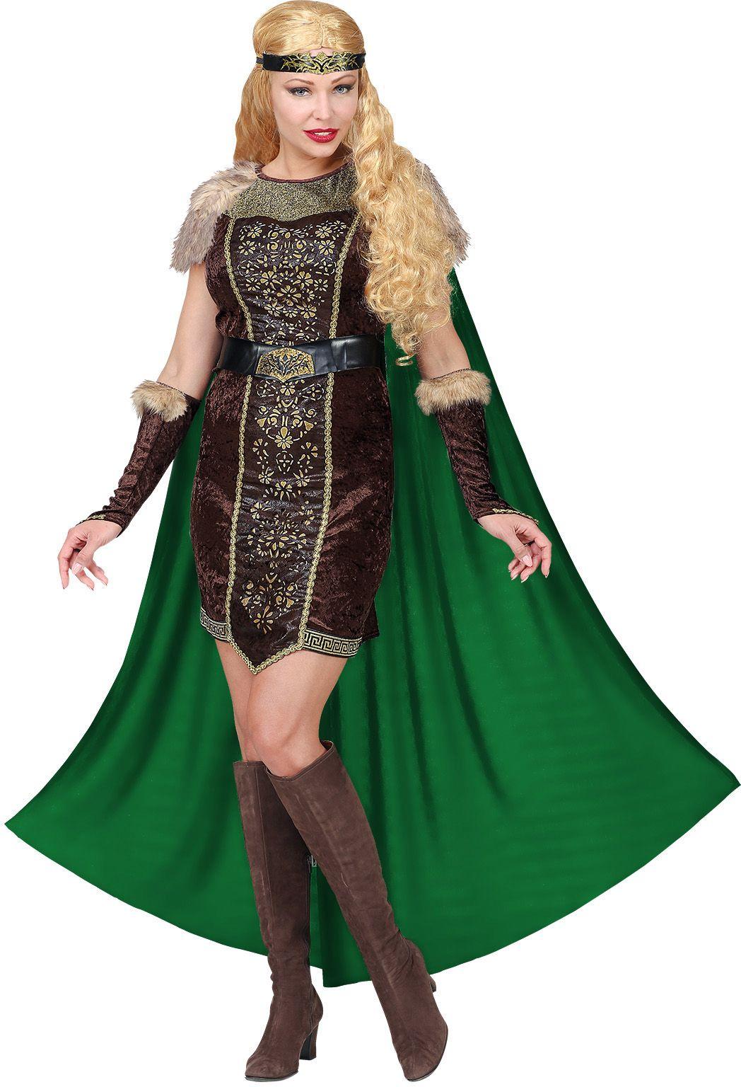 Vrouwen viking kostuum