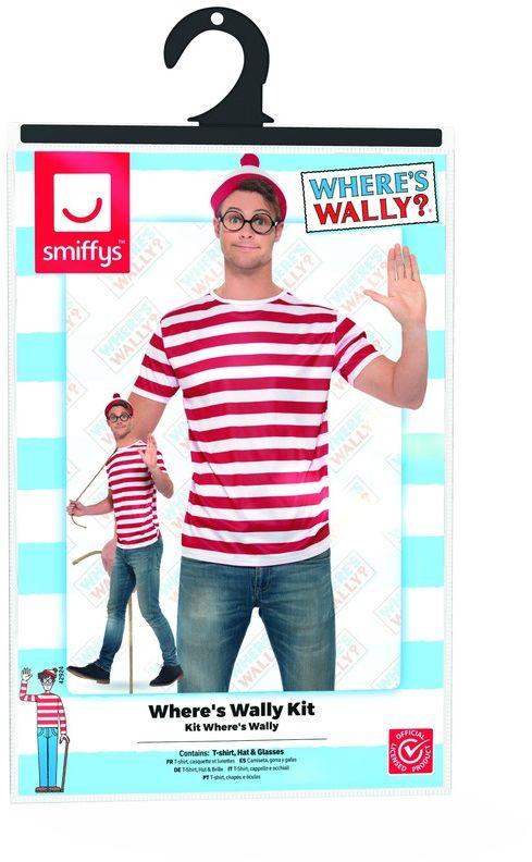 Waar is Wally heren verkleedset