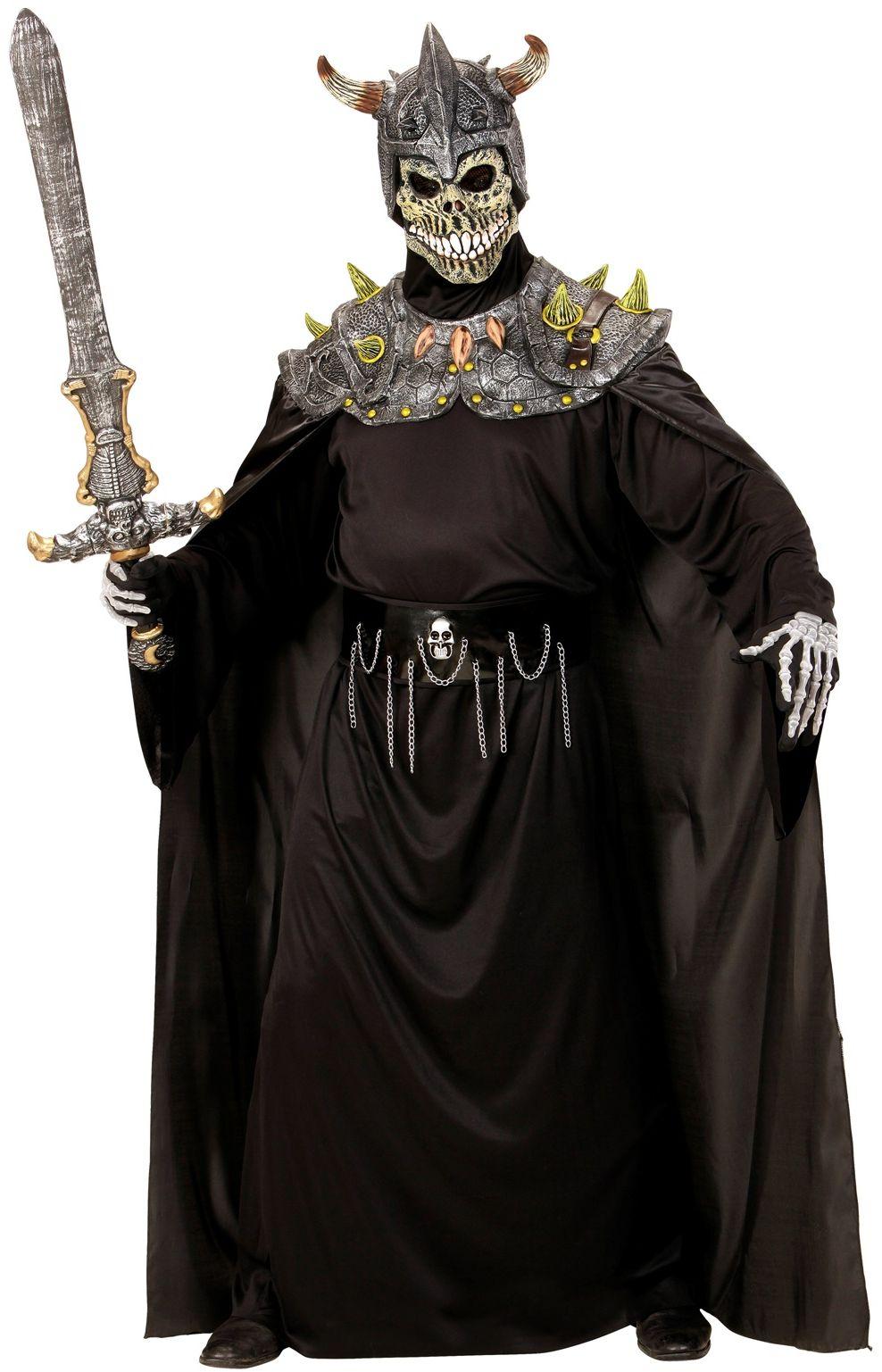 Warlord masker met cape One-size-volwassenen