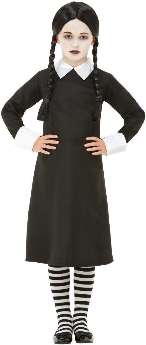 Wednesday Addams zwart meisjes kostuum