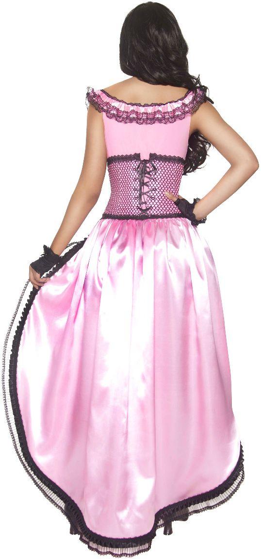 Western roze saloon jurk