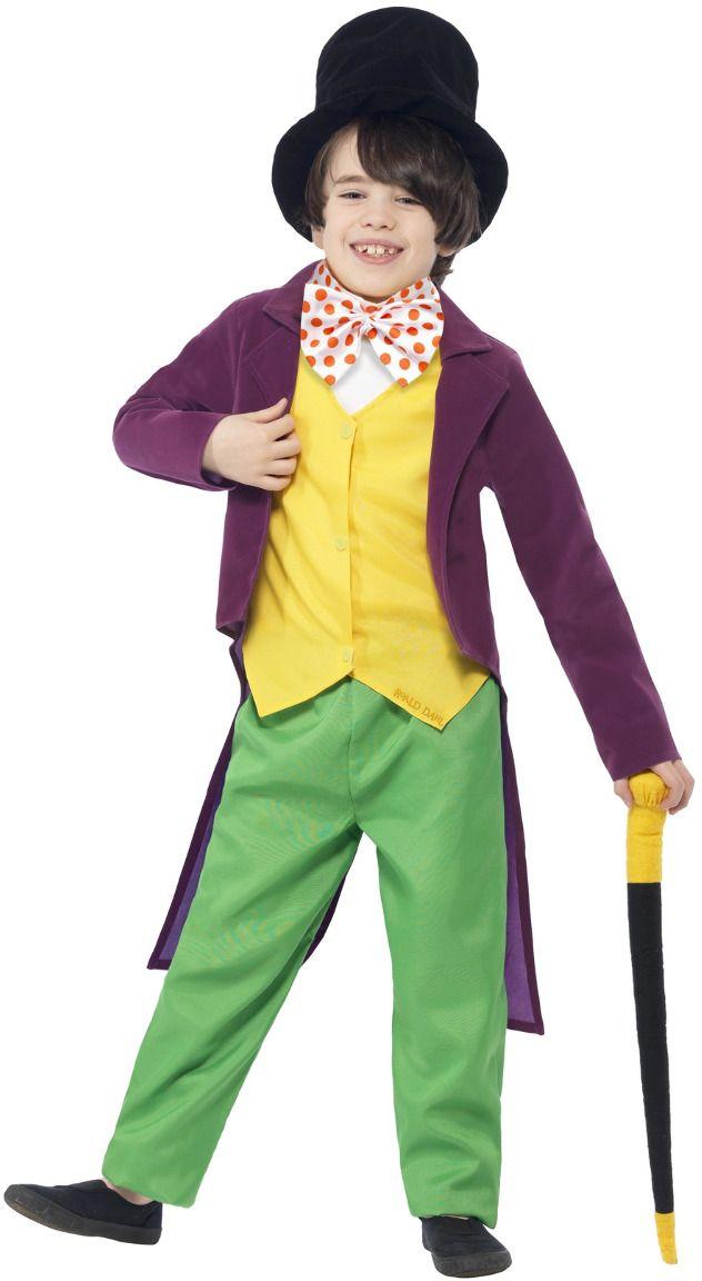 Willy Wonka groen gele kostuum
