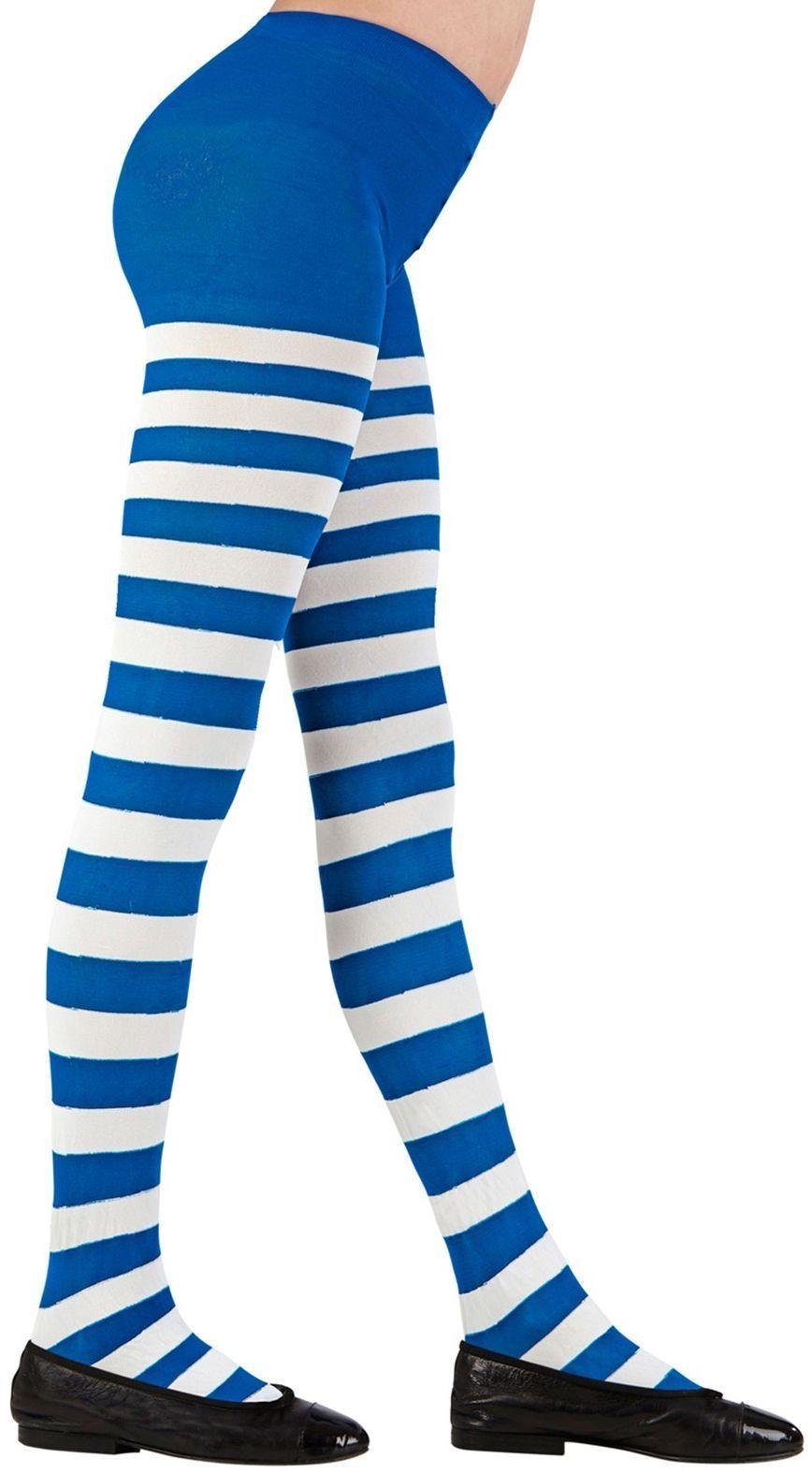 Wit blauw gestreepte kinderpanty