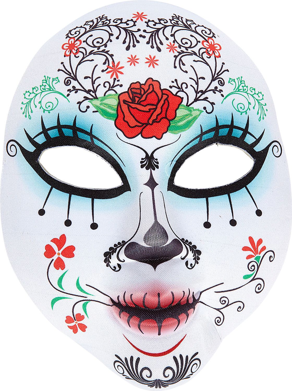 Wit dia de los muertos gezichtsmasker