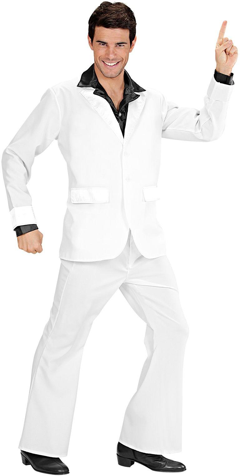 Wit disco kostuum