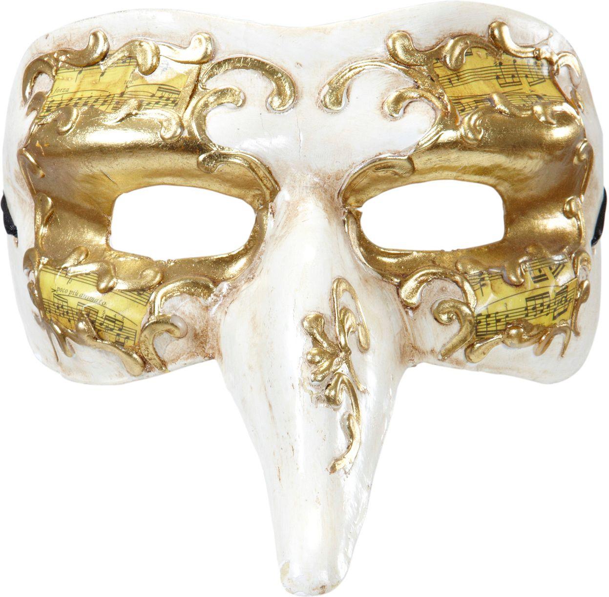 Wit gouden nasone masker