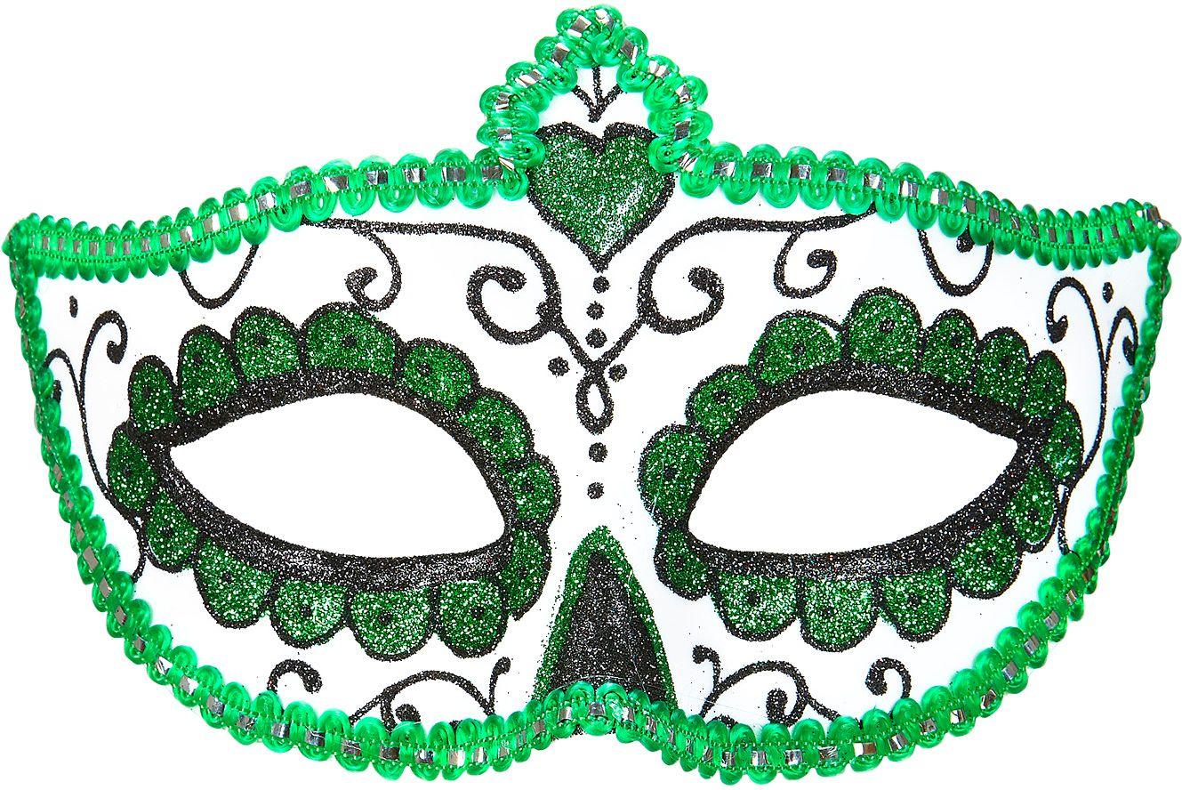 Wit groen dia de los muertos oogmasker