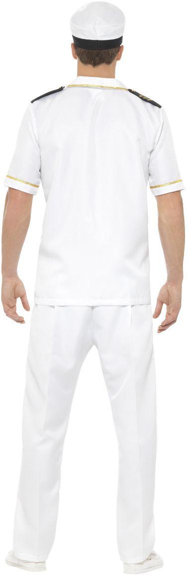 Wit kapiteins heren kostuum