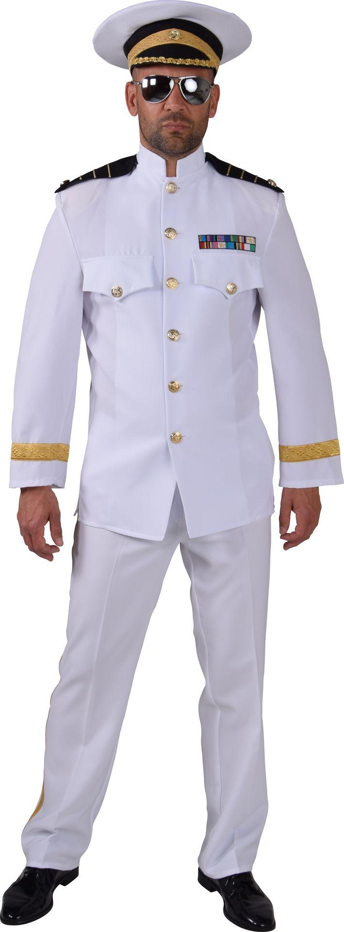Wit kapiteins kostuum heren