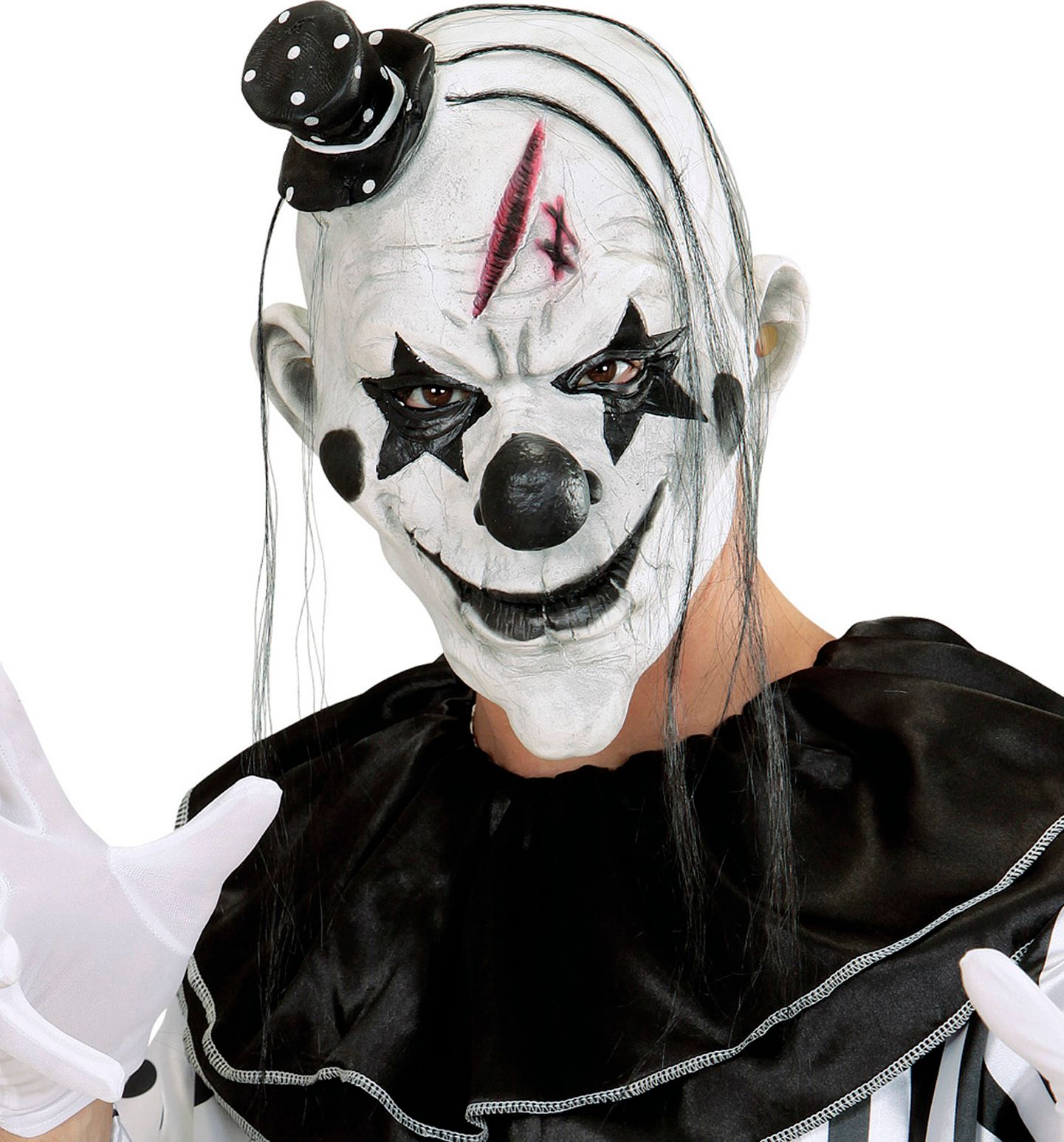 Wit killer clown masker